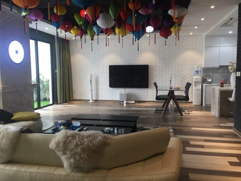 Phòng phòng khách nhà mẫu Mipec Rubik 360