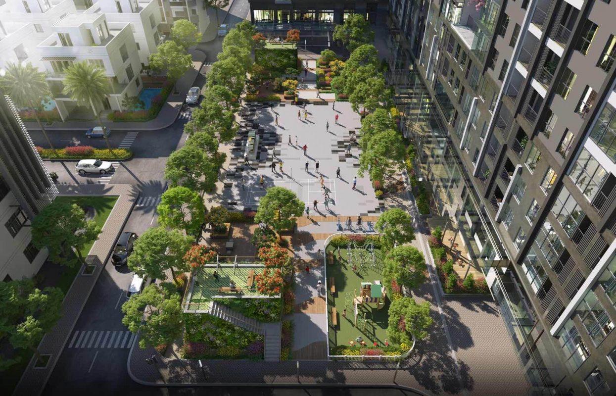 Quảng trường Trung tâm Dự án Mipec Rubik 360 Xuân Thủy