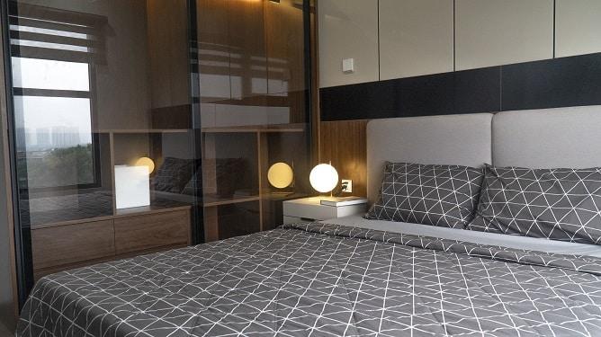 Phòng Ngủ căn hộ mẫu số 06 diện tích 67,8m2 full đồ Green Park