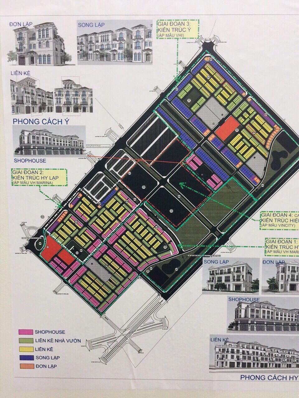 Mặt bằng Quy hoạch Phân lô Chức năng đô thị Dự án Vinhomes Đan Phượng