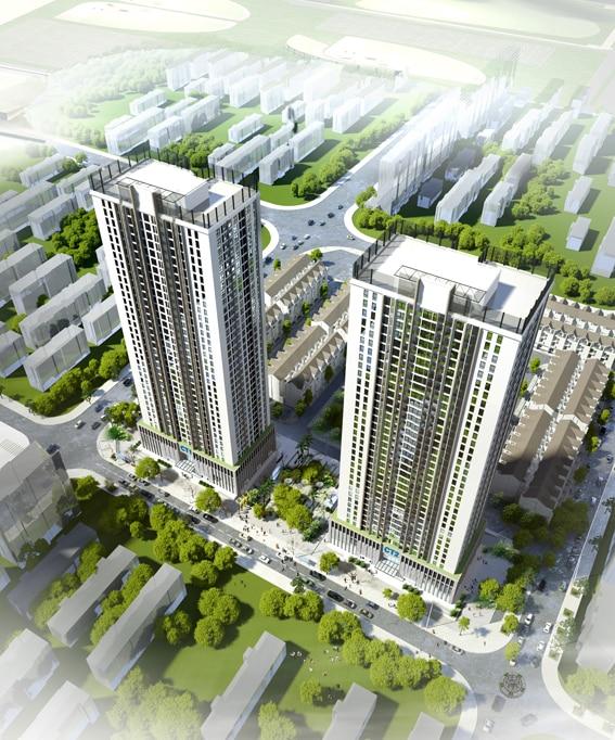 Phối cảnh Flycam Dự án Chung cư A10 Nam Trung Yên
