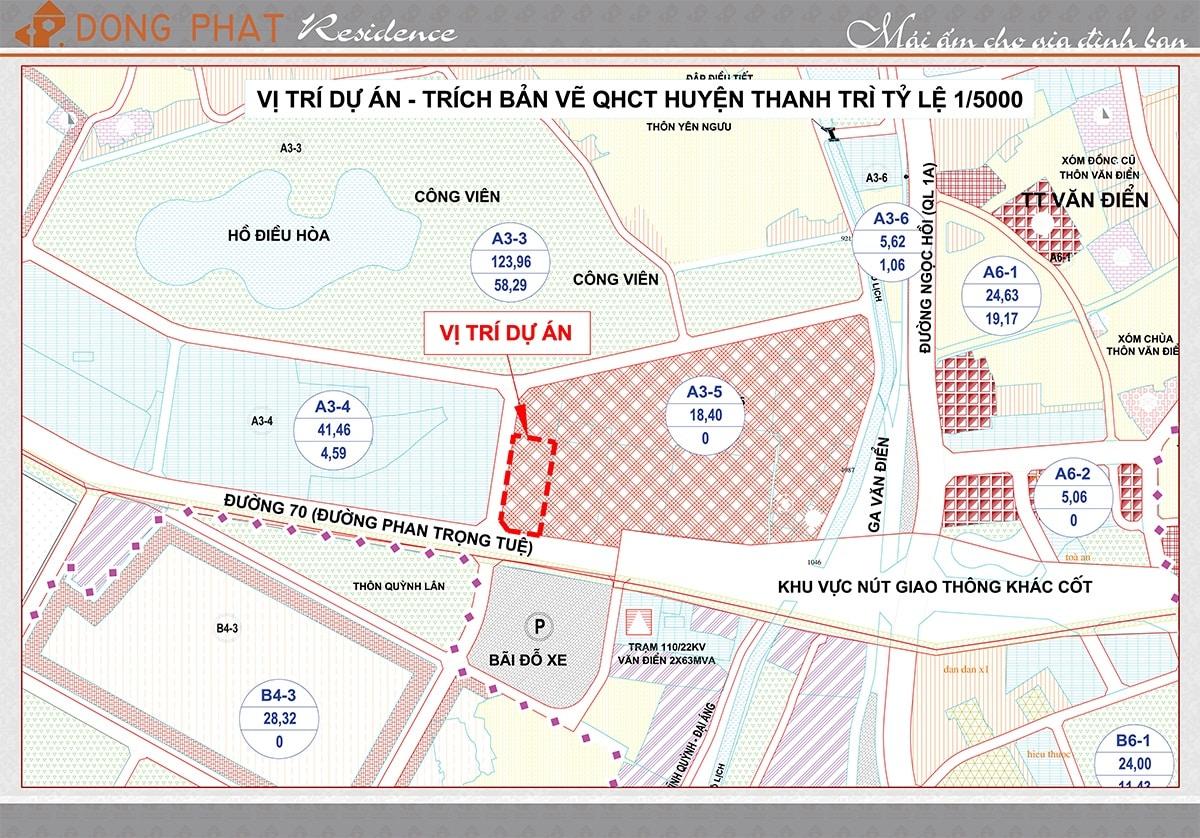 Vị trí Dự án Chung cư Đồng Phát Residence