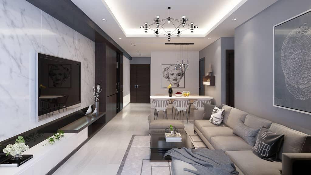 Tham khảo nội thất phòng khách Dự án Đồng Phát Residence Thanh Trì