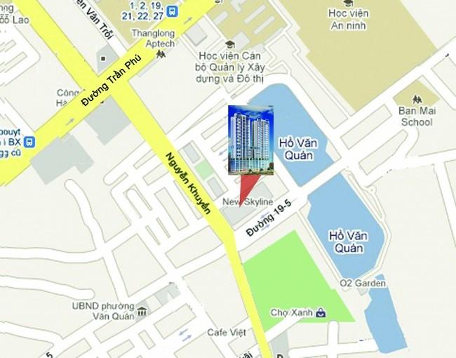 Vị trí Trung tâm KĐT Văn Quán Dự án Chung cư New Skyline Văn Quán