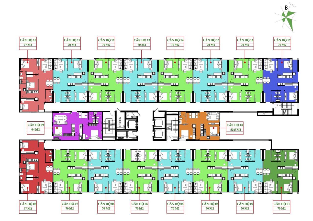 Mặt bằng Nhà ở Xã hội IEC Complex Thanh Trì