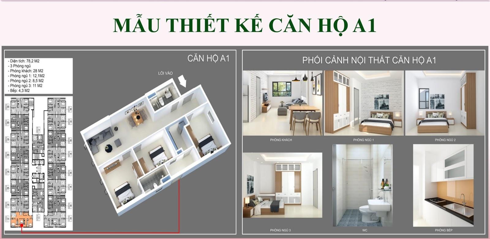 Mẫu thiết kế căn hộ A1