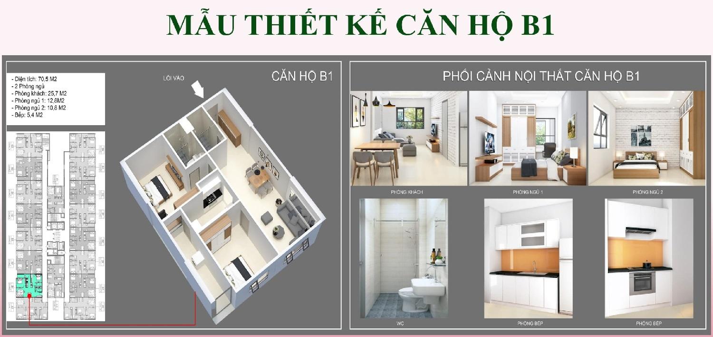 Mẫu thiết kế căn hộ B1