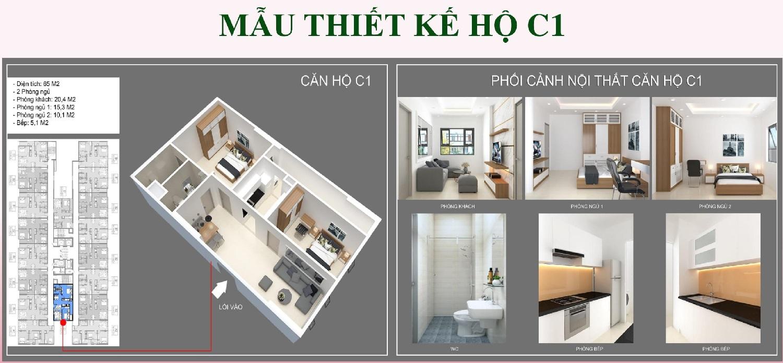 Mẫu thiết kế căn hộ C1
