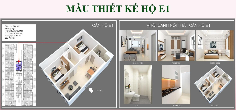 Mẫu thiết kế căn hộ E1