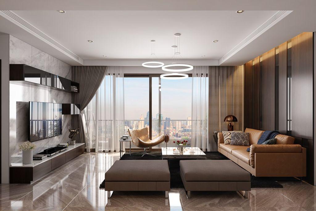 Minh họa nội thất Phòng khách Dự án Grandeur Palace 138B Giảng Võ