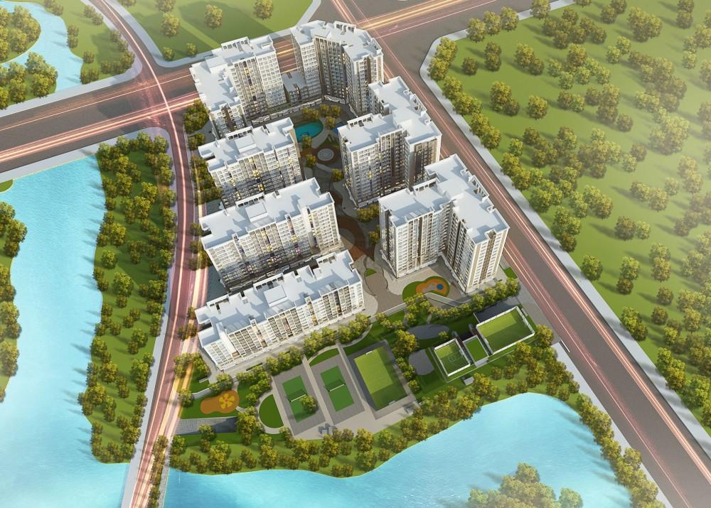Phối cảnh Flycam Dự án Chung cư Vinhomes Symphony Long Biên