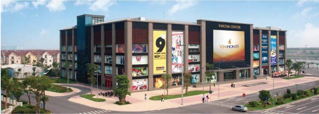 Trung tâm thương mại Vinhomes Center liền kế Dự án Chung cư Vinhomes Symphony
