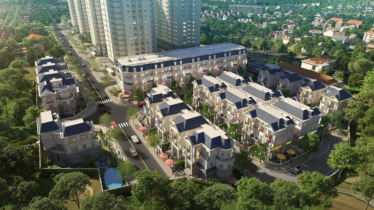 Phối cảnh tiểu khu thấp tầng Dự án Mipec Kiến Hưng City View