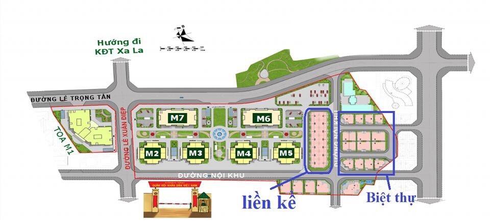 Mặt bằng Cơ cấu sản phẩm Dự án Mipec Kiến Hưng City View