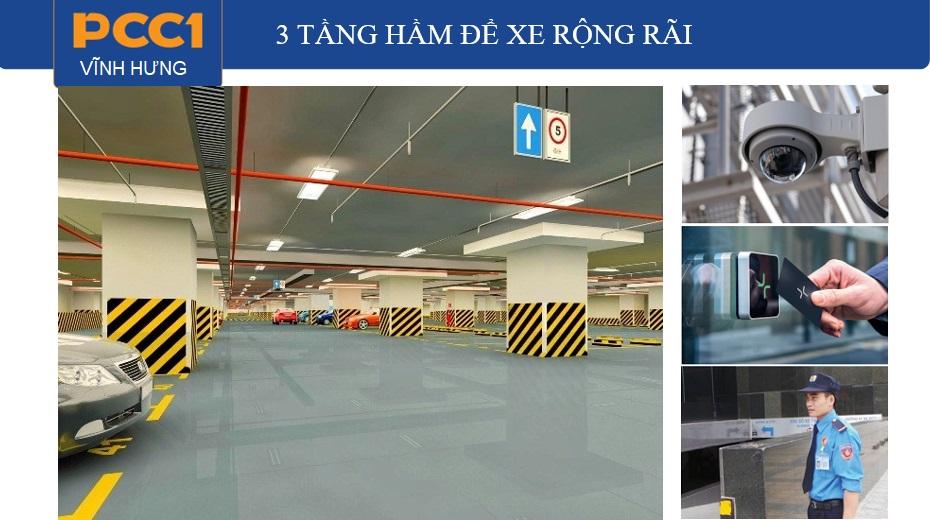 Hầm để xe thông minh giải quyết giao thông tĩnh tại Chung cư PCC1 Vĩnh Hưng