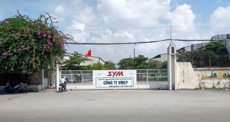 Hiện trạng nhà máy SYM Lê Trọng Tấn, La Khê, Hà Đông