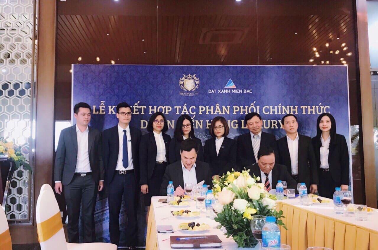 Lễ ký kết Hợp tác Phân phối độc quyền Dự án Kiến Hưng Luxury