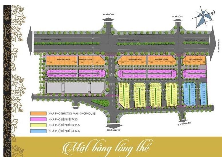 Mặt bằng chia lô Dự án Kiến Hưng Luxury