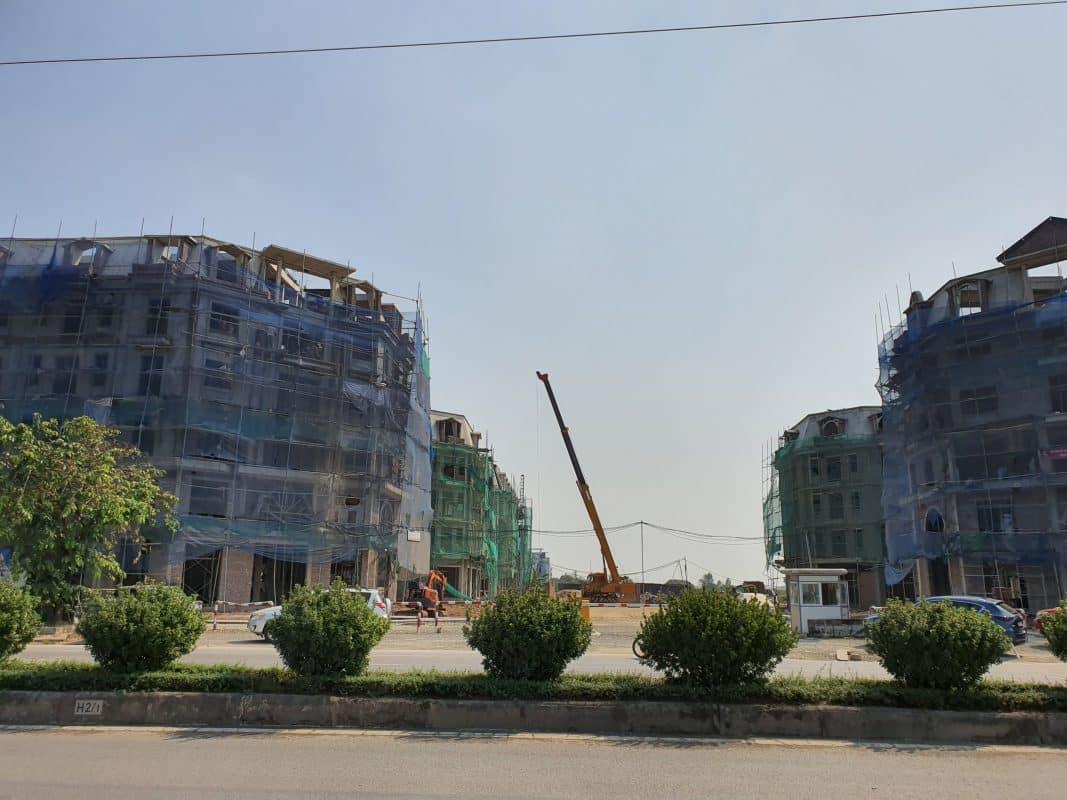 Ảnh thực tế vị trí giao lộ đường 30m với đường Phúc La Văn Phú