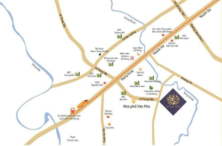 Kiến Hưng Luxury tọa lạc Mặt tiền Đại lộ Chu Văn An kéo dài - Đường Phúc La Văn Phú