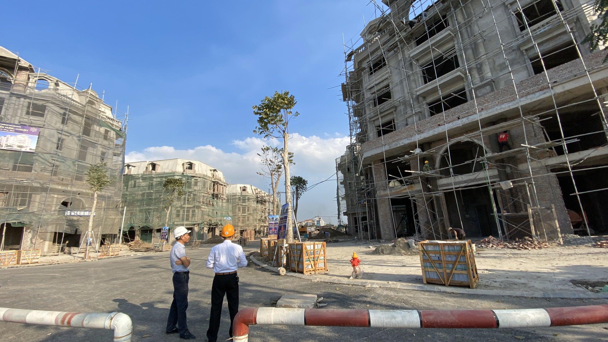 Tiến độ xây dựng nhà phố Kiến Hưng Luxury hoàn thiện đến 95% hạng mục công việc chính