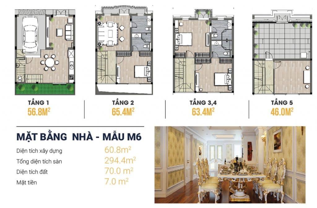 Thiết kế Liền kề 2 Kiến Hưng Luxury 4,5 tầng, mặt tiền 7m, kinh doanh tốt