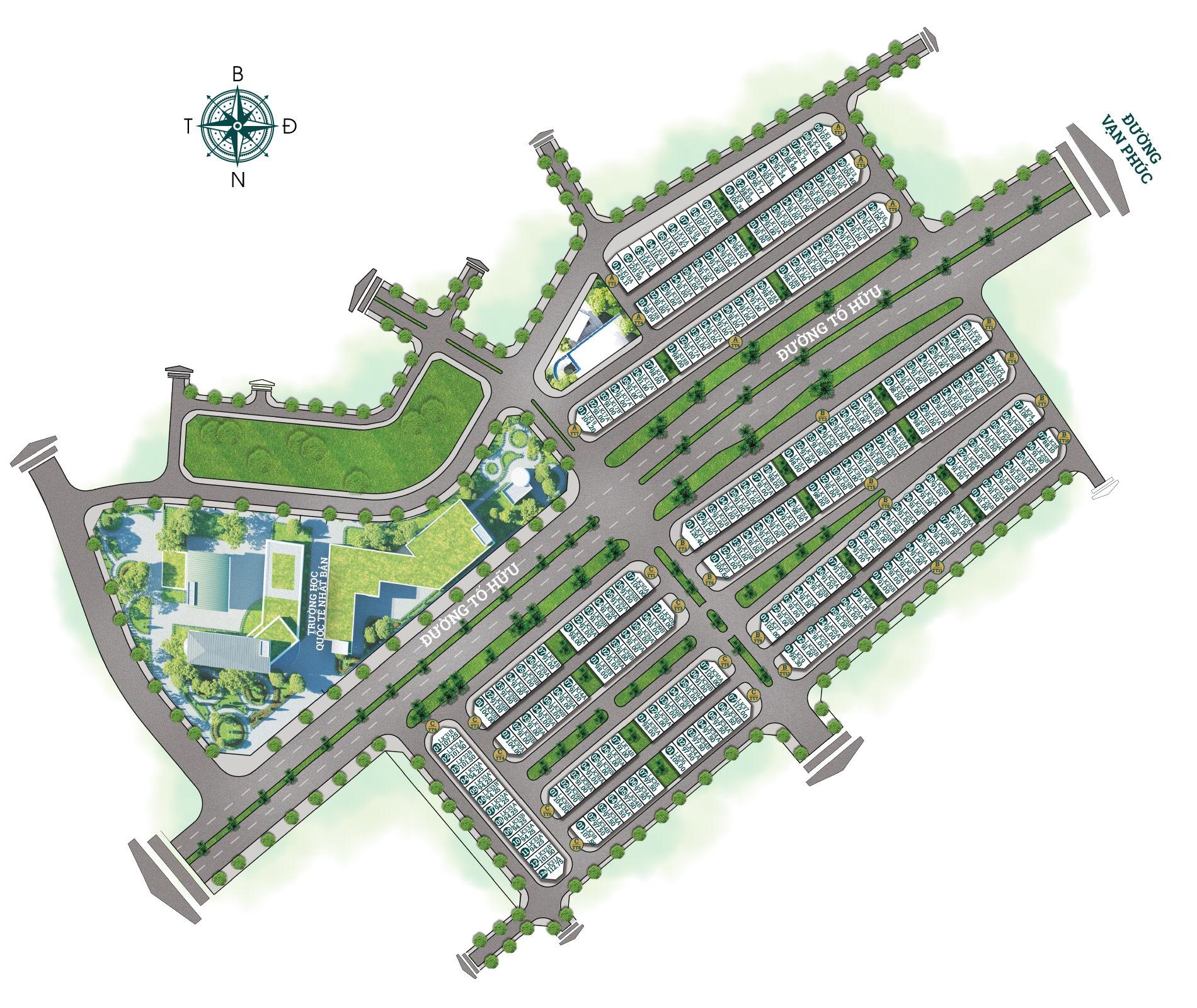 Mặt bằng Chia lô Shophouse Dự án Himlam Vạn Phúc Luxury 2020