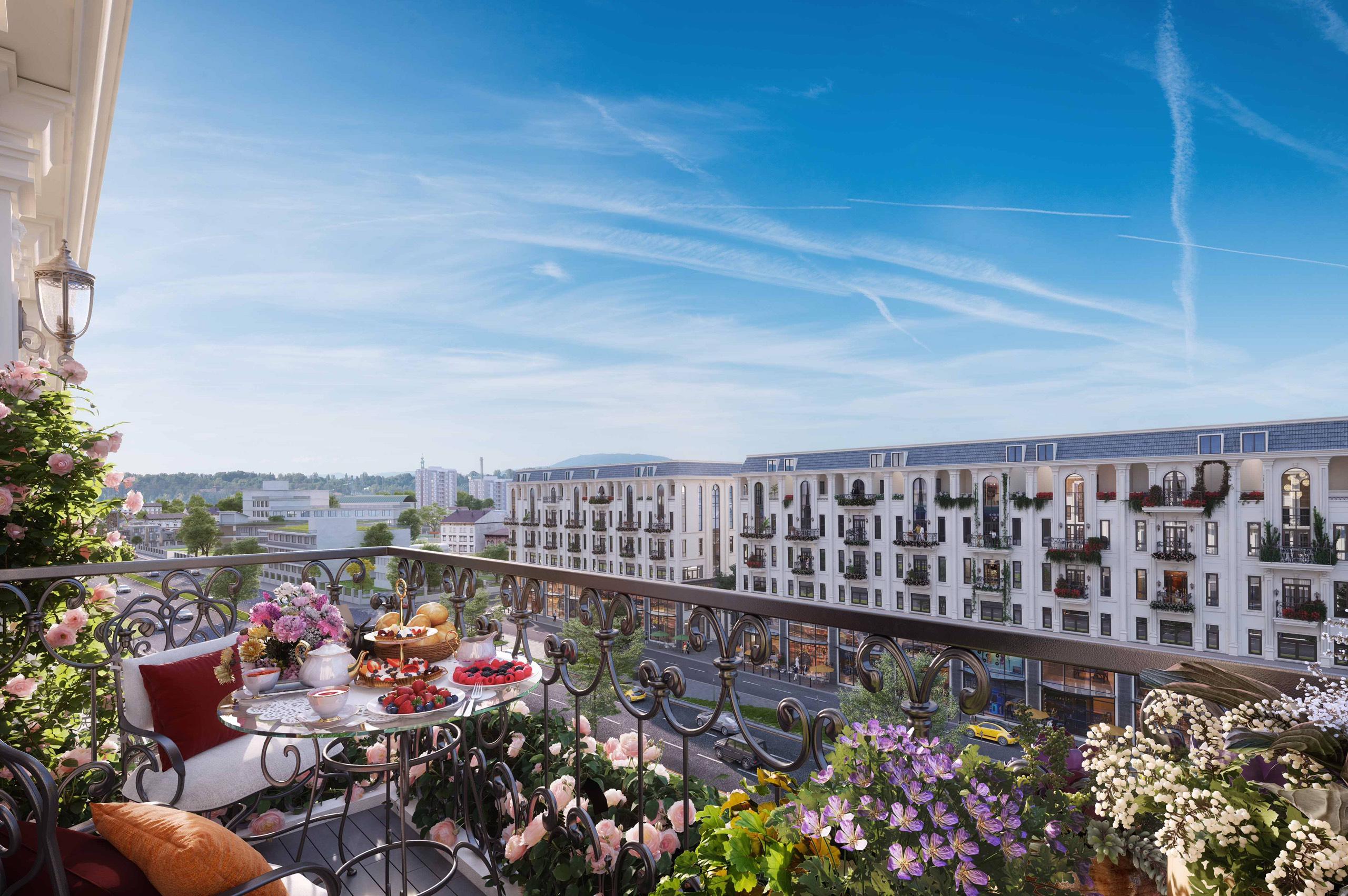 Phối cảnh Tổng thể Shophouse Liền kề Himlam Vạn Phúc Luxury Residence