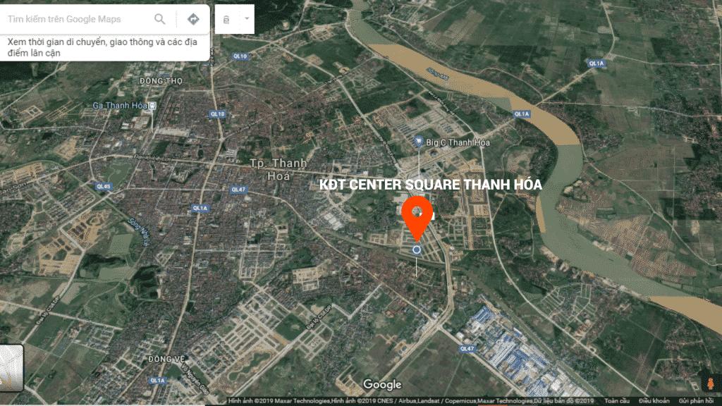 Vị trí Dự án Center Square Thanh Hóa MB 3241