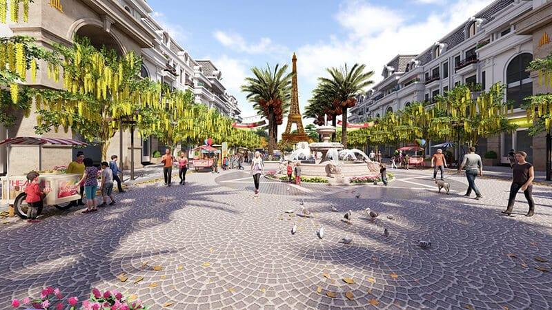 Quảng trường lớn trung tâm Dự án Paris Elysor
