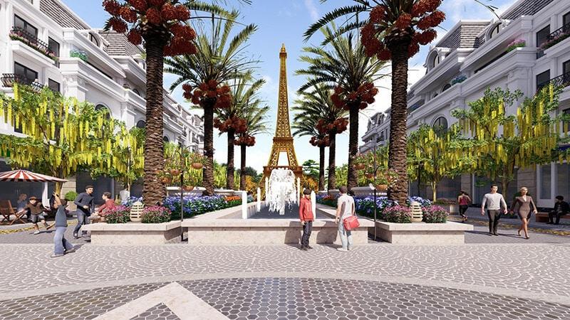 Tháp Eiffel thu nhỏ cao 27m là điểm checkin lãng mạn tại Paris Elysor