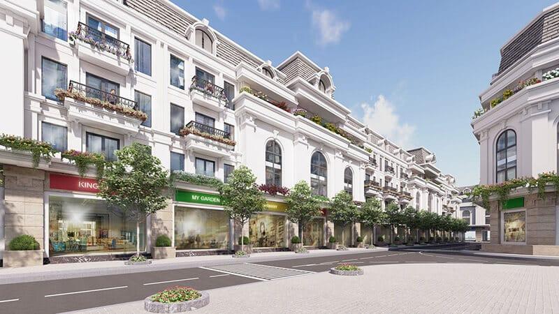 Dãy nhà phố kinh doanh Paris Elysor hoàn hảo