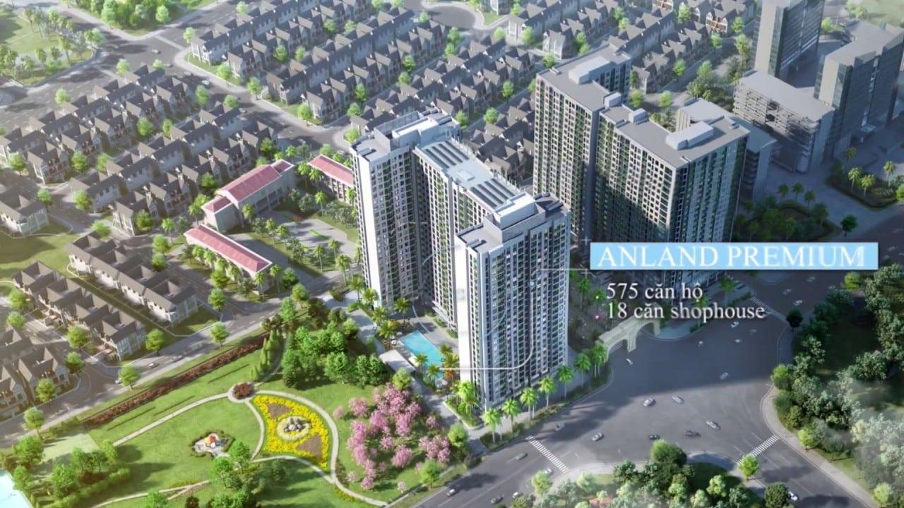 Anland Premium thiết kế 575 căn hộ chung cư + 18 căn shop đế thông tầng 1-2