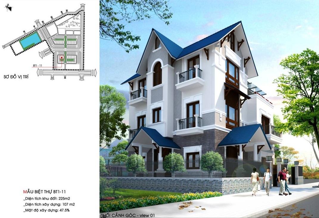 Mẫu nhà Biệt thự Dự án Hòa Bình New City