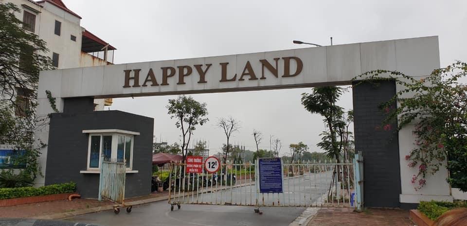 Cổng chào Dự án Happy Land - Xứ sở Hạnh phúc