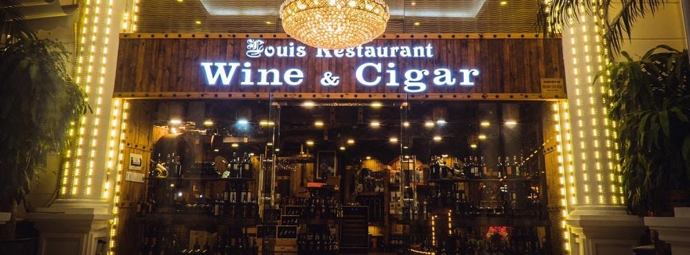 Rượu Vang với Xì Gà là đặc trưng phong cách cẩm thực Pháp tại Louis City