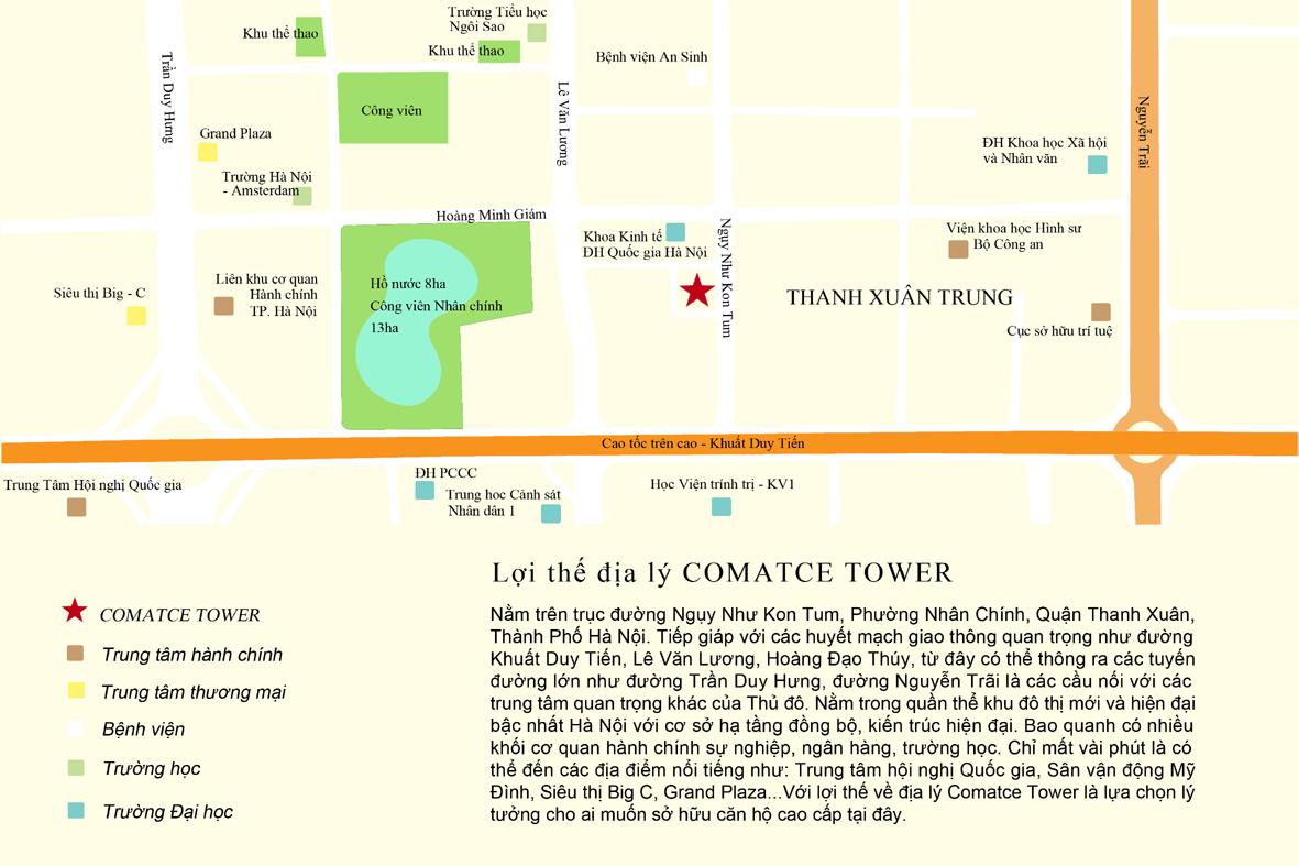 Chung cư Comatce Tower 61 Ngụy Như Kon Tum