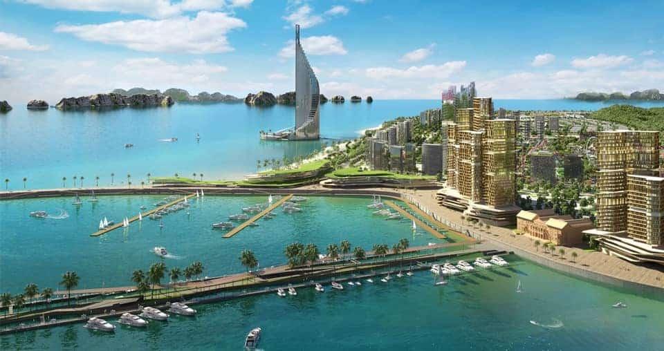 Dự án Domino Hạ Long cao 540m trên nền đảo nhân tạo bền vững