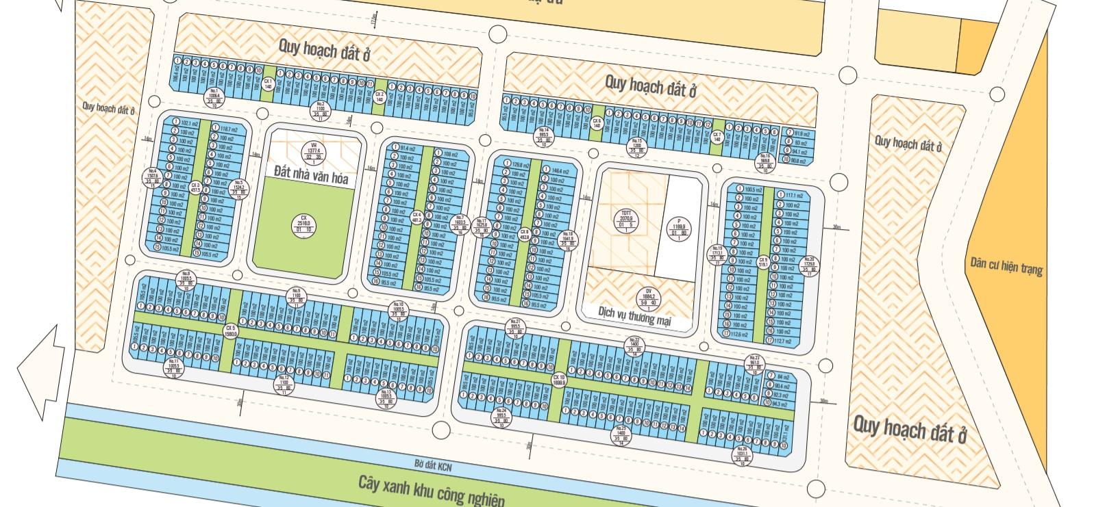 Chi tiết Mã lô Dự án Dũng Liệt Green City
