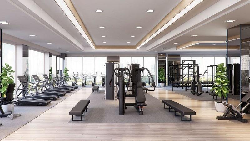 Phòng Gym hiện đại Chung cư Lancaster Luminaire