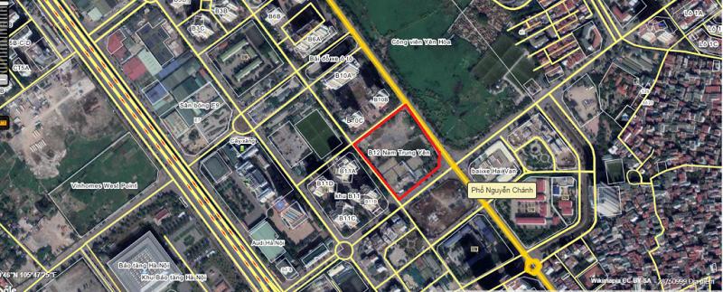 Vị trí Dự án B12 Nam Trung Yên - giao lộ Nguyễn Chánh - Mạc Thái Tông