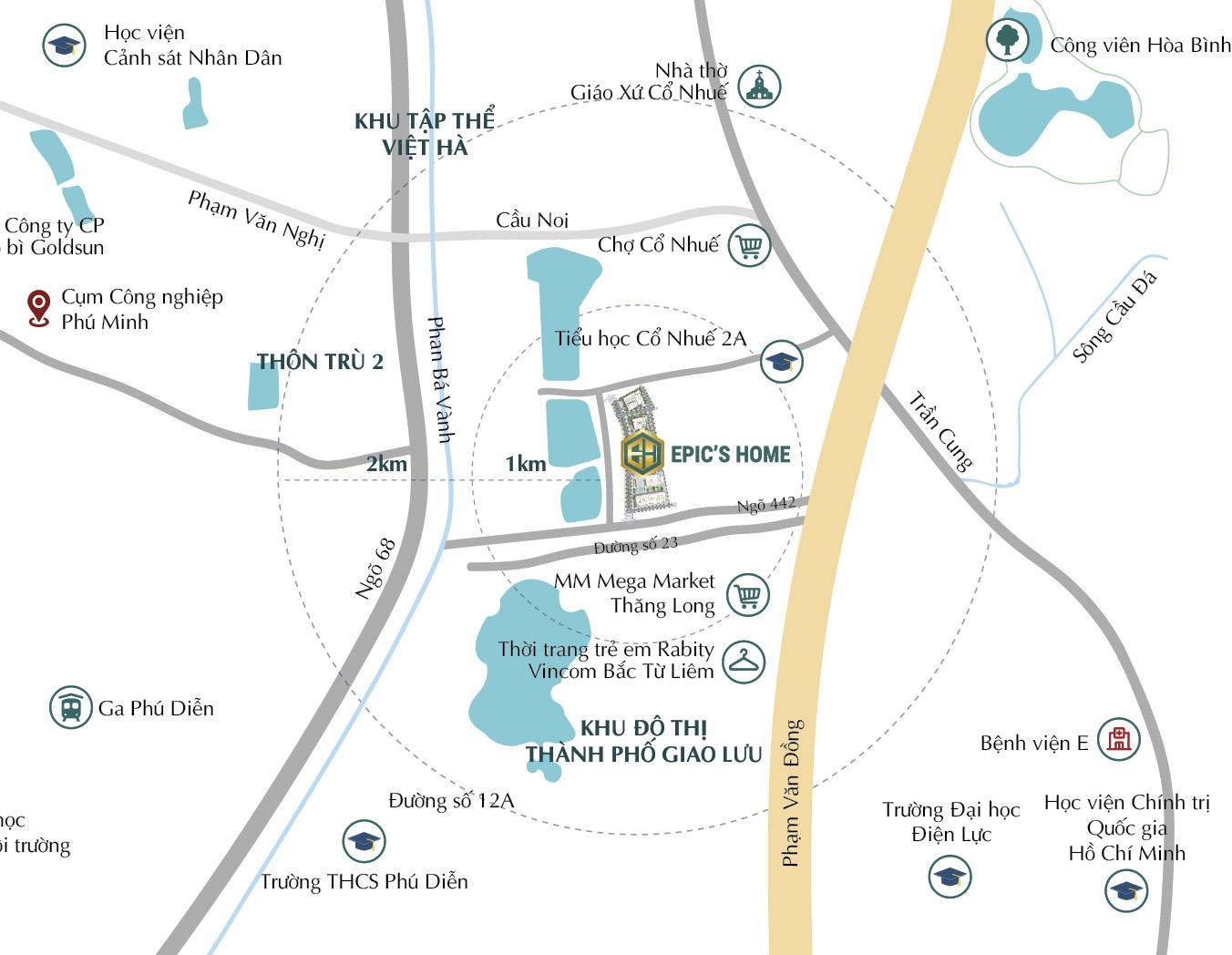 Epic's Home Thái Hà sở hữu vị trí Vàng trung tâm đắc địa