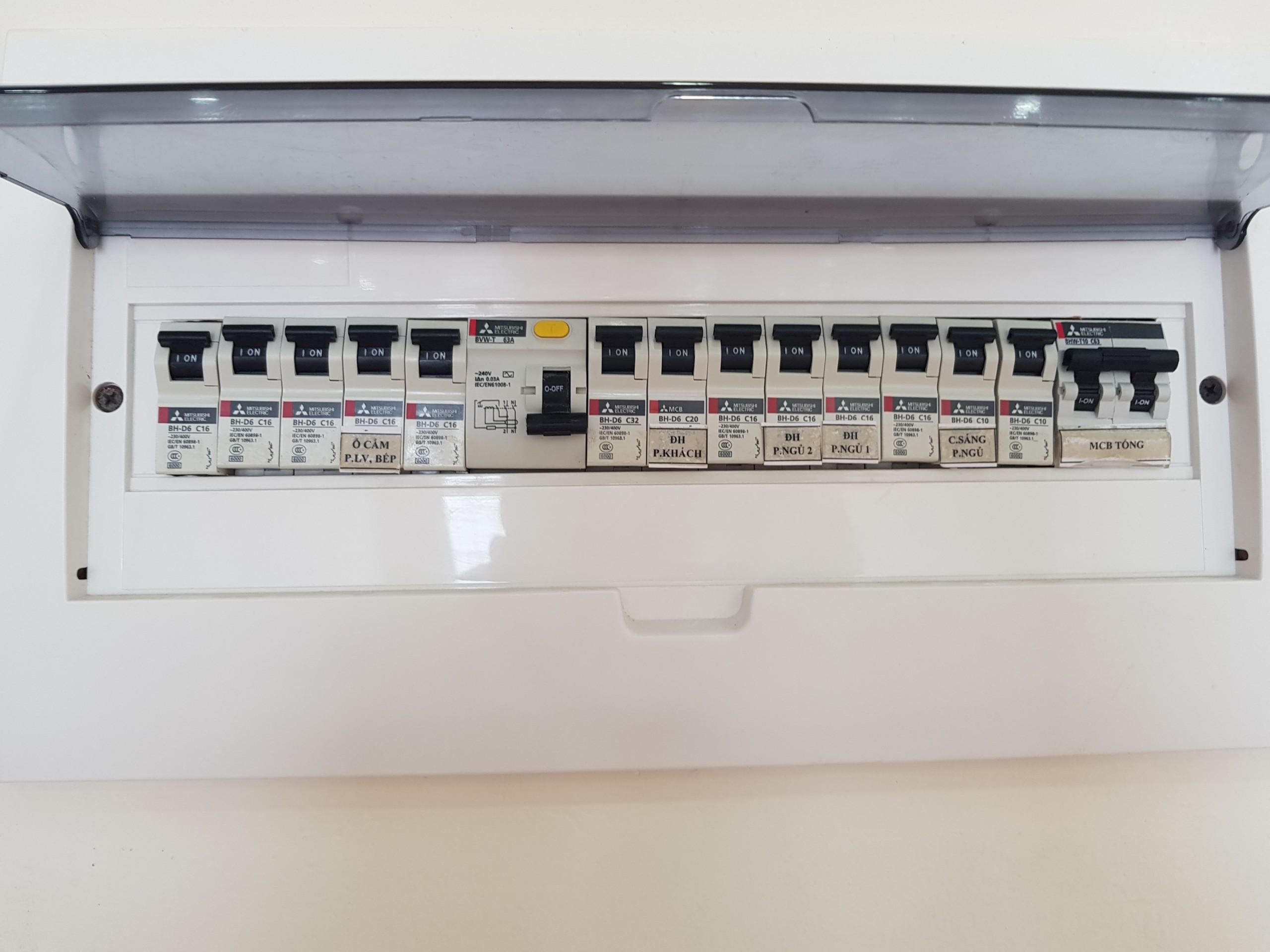 Dự án Epic Home Thái Hà sử dụng Bảng điện Mitsubishi chất lượng cao