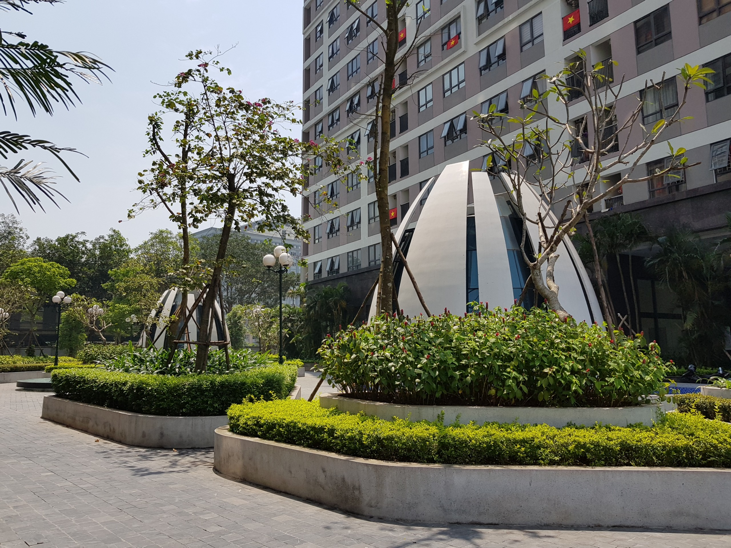 Không gian xanh đẳng cấp đã hiện hữu trong khuôn viên Epic's Home Thái Hà