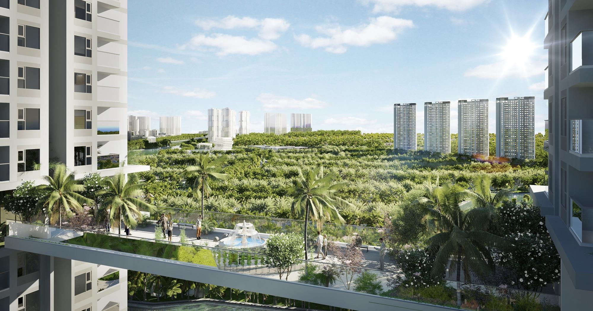 Sky Garden ở trên cao mang lại cho cư dân Sky Oasis những trải nghiệm hoàn toàn mới