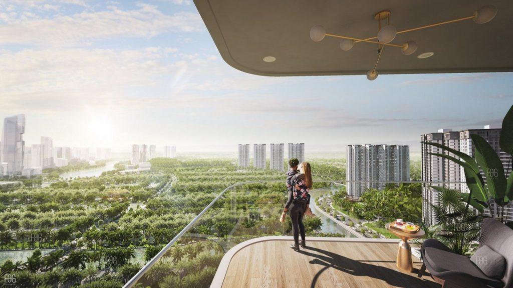 Tầm view đế vương panorama 360 độ chung cư Sky Oasis Ecopark