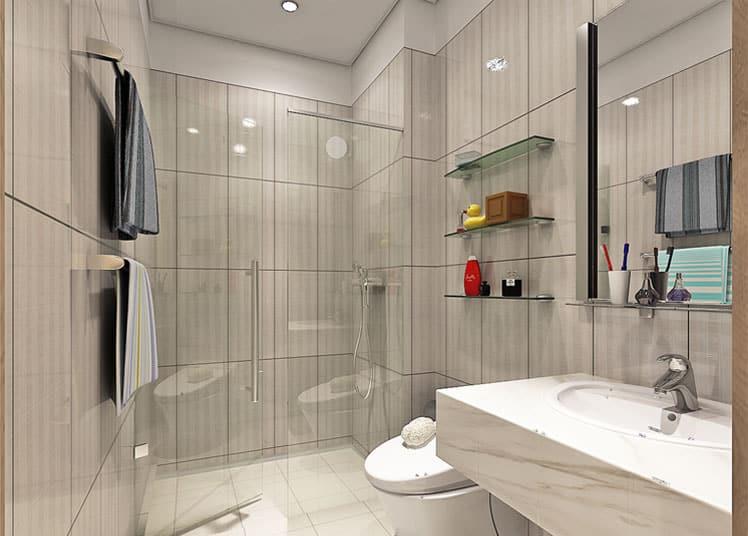 Thiết bị cao cấp phòng tắm căn hộ Chung cư The Nine Tower