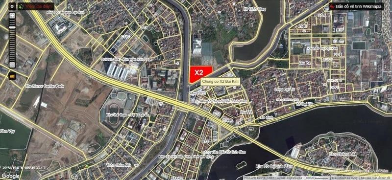 Vị trí Trung tâm Vùng của Dự án Chung cư X2 Đại Kim - Hoàng Mai