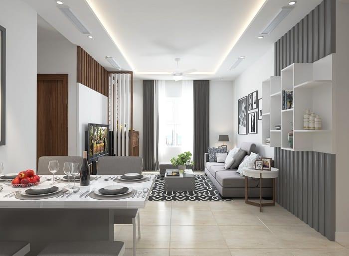 Minh họa phòng khách căn hộ dự án chung cư X2 Đại Kim