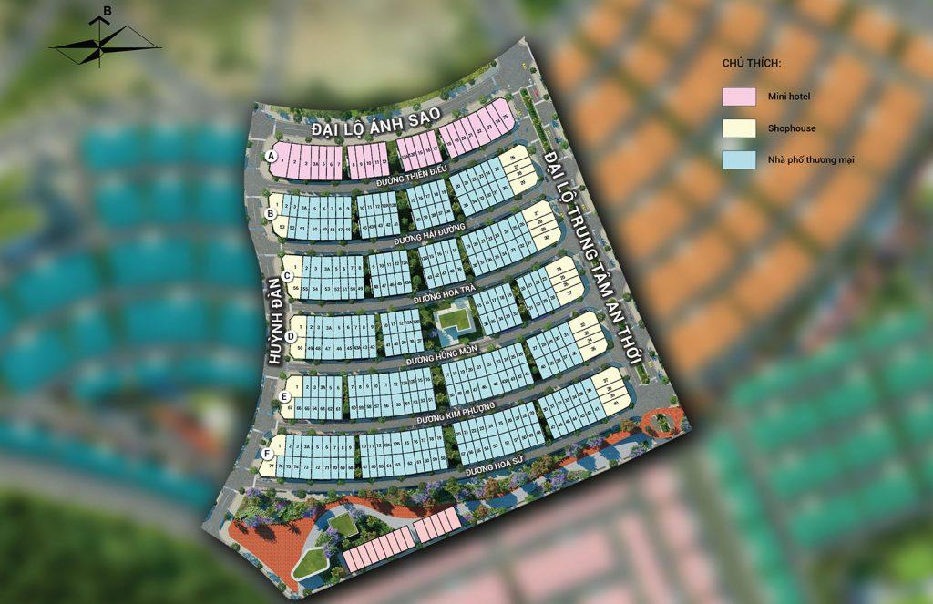 Mặt bằng phân lô khu Rosada Meyhomes Capital Phú Quốc